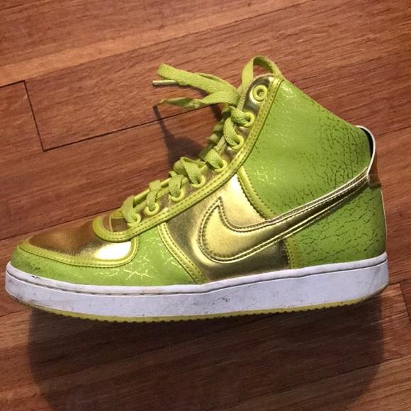 neon green nike high tops